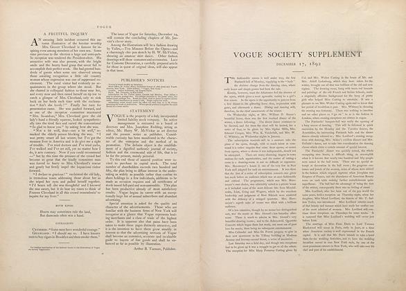 Vogue Society Supplement