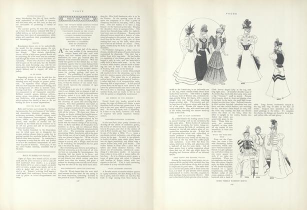 What She Wears: Shall the Twenty-Third Century Women Costume a Pretty Frolic...