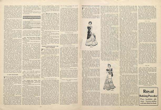 Descriptions of Fashions