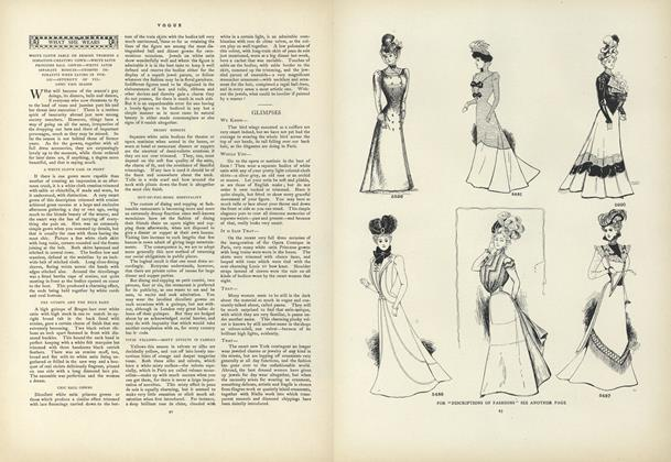 What She Wears: White Cloth Sable or Ermine Trimmed a Sensation-Creating Gown...