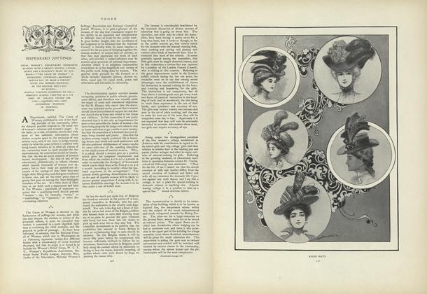 Haphazard Jottings: Usual Woman's Department Represents Readers...