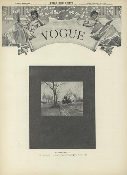 Issue: - December 14 1899   Vogue
