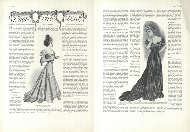 Article Preview: What She Wears, January 10 1907 | Vogue