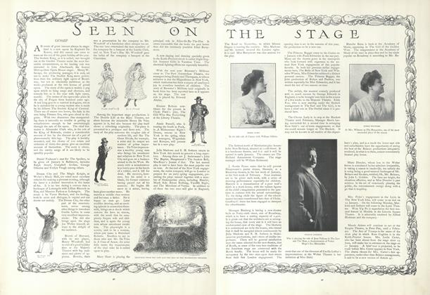 Article Preview: Seen on the Stage, January 10 1907 | Vogue