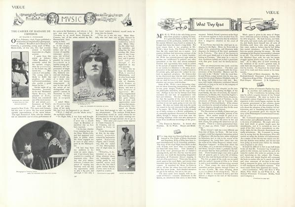 Article Preview: Music: The Career of Mme. De Cisneros, January 24 1907 | Vogue