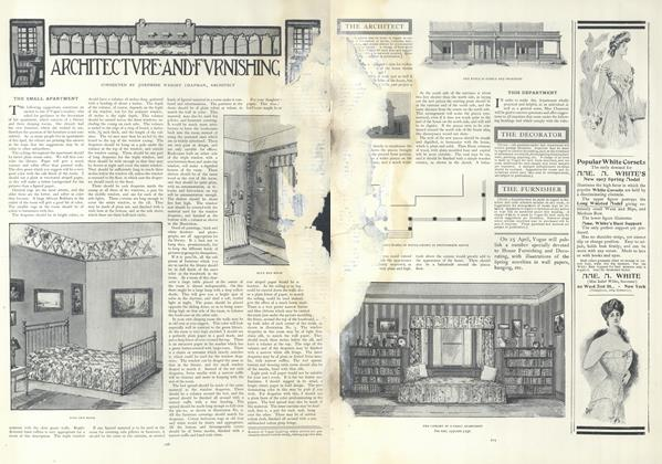 Article Preview: The Small Apartment, February 14 1907 | Vogue