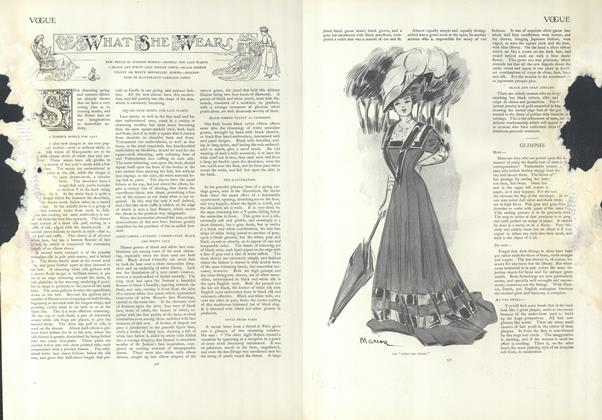 Article Preview: What She Wears, February 28 1907 | Vogue