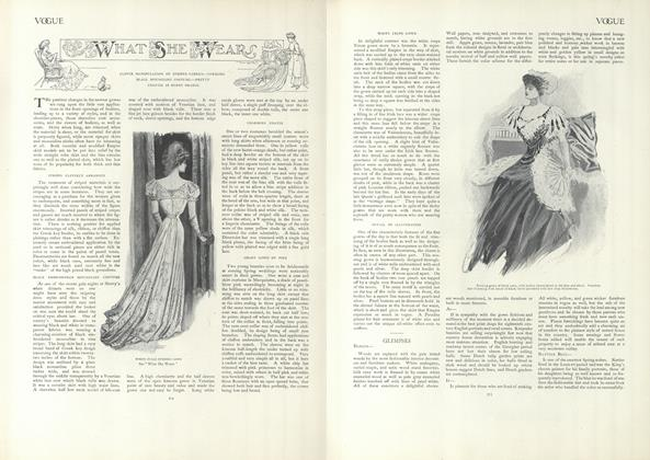 Article Preview: What She Wears, April 4 1907 | Vogue