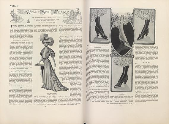 Article Preview: What She Wears, April 18 1907 | Vogue