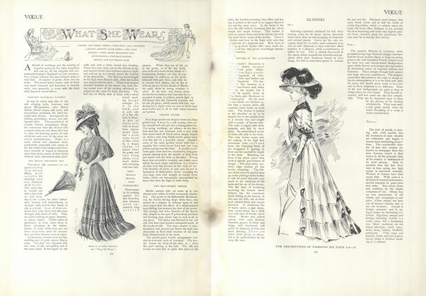 Article Preview: What She Wears, April 25 1907 | Vogue