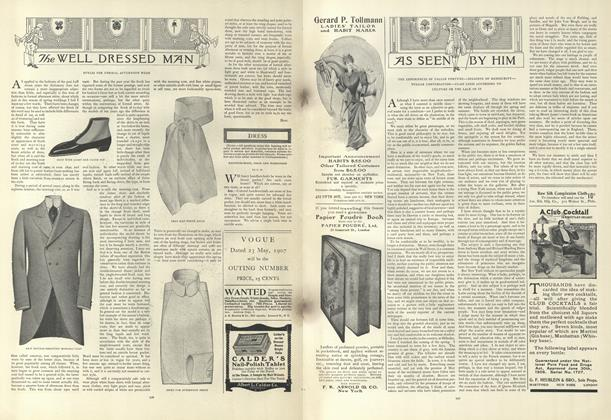 Article Preview: As Seen by Him, April 25 1907 | Vogue