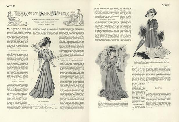 Article Preview: What She Wears, May 16 1907 | Vogue