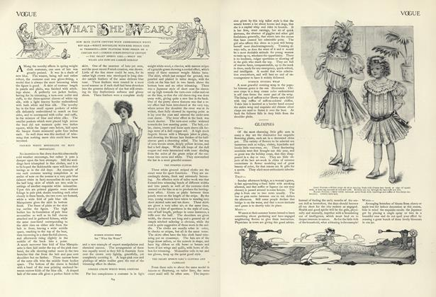 Article Preview: What She Wears, May 30 1907 | Vogue
