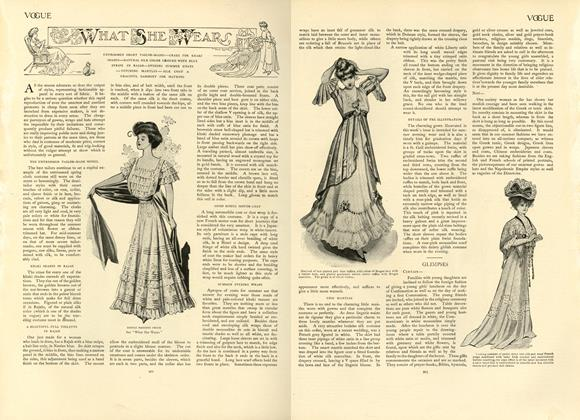 Article Preview: What She Wears, June 6 1907 | Vogue