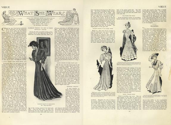 Article Preview: What She Wears, June 13 1907 | Vogue