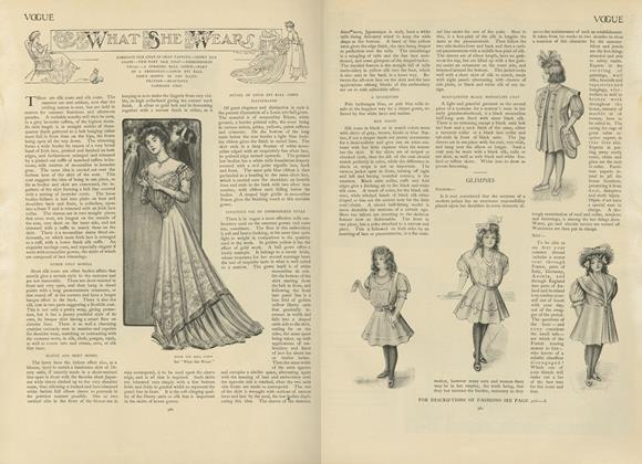 Article Preview: What She Wears, June 20 1907 | Vogue