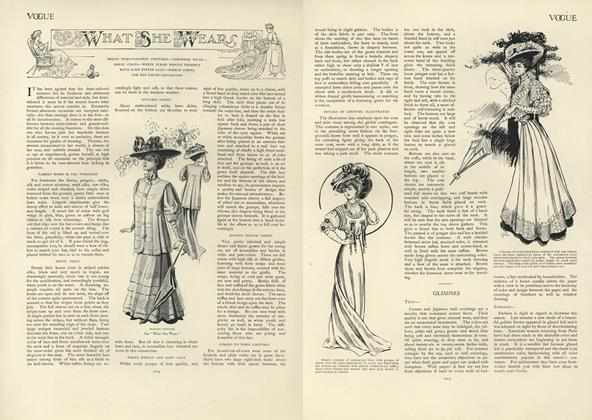 Article Preview: What She Wears, June 27 1907 | Vogue