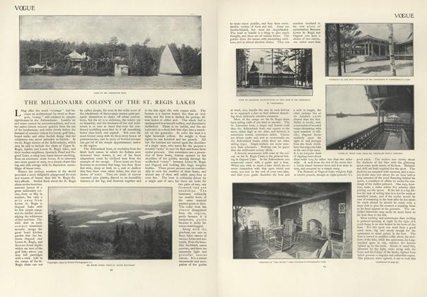 Article Preview: The Millionaire Colony of St. Regis Lakes, July 18 1907 | Vogue