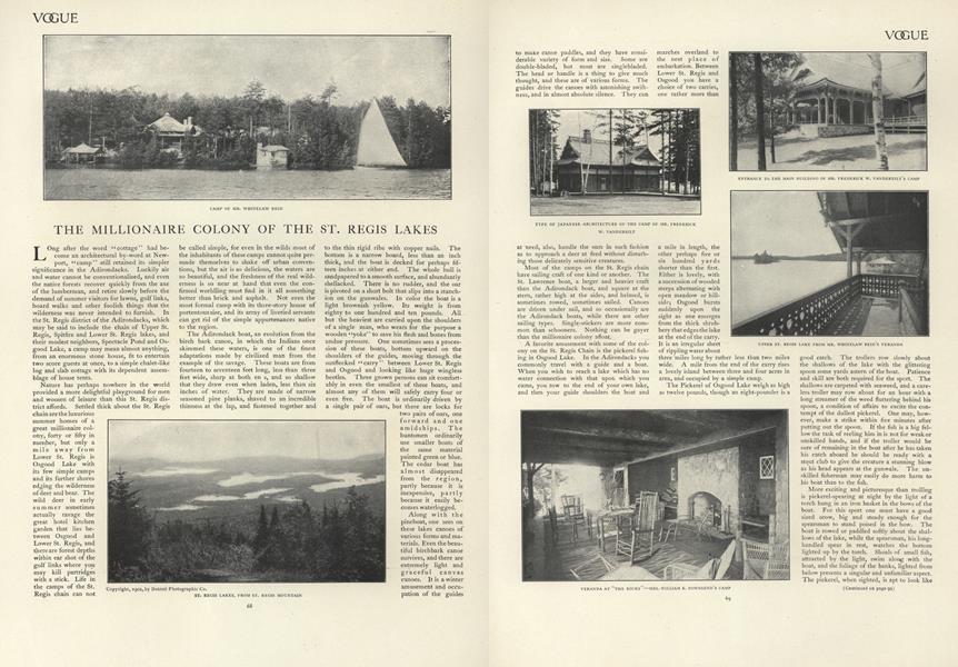 The Millionaire Colony of St. Regis Lakes