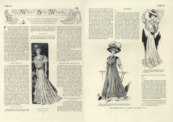 Article Preview: What She Wears, August 1 1907 | Vogue