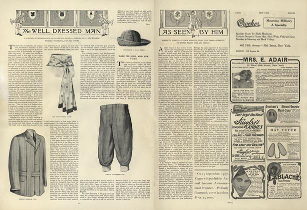 Article Preview: As Seen by Him, August 22 1907 | Vogue