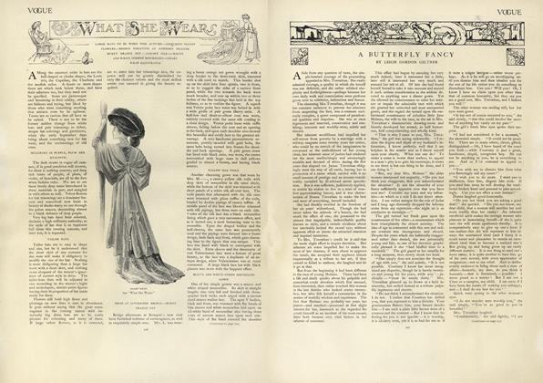 Article Preview: What She Wears, August 22 1907 | Vogue