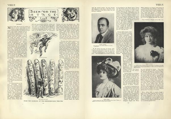 Article Preview: Seen on the Stage, August 29 1907 | Vogue