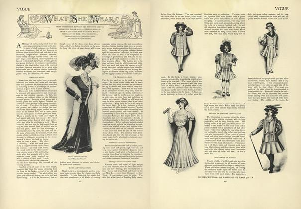 Article Preview: What She Wears, October 3 1907 | Vogue