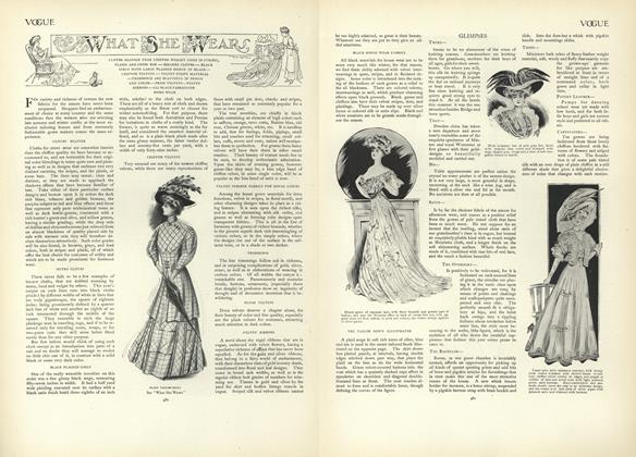 Article Preview: What She Wears, October 10 1907 | Vogue