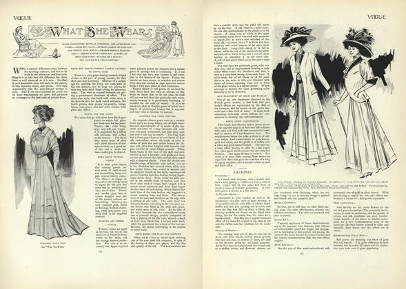 Article Preview: What She Wears, October 17 1907 | Vogue