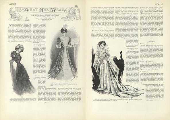 Article Preview: What She Wears, October 24 1907 | Vogue