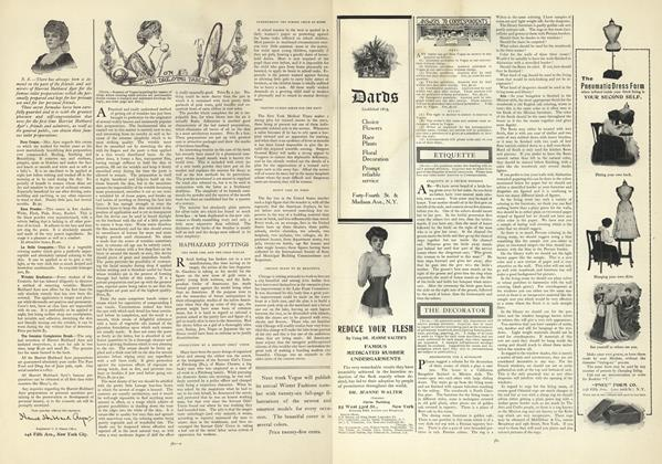Article Preview: Answers to Correspondents, October 31 1907 | Vogue