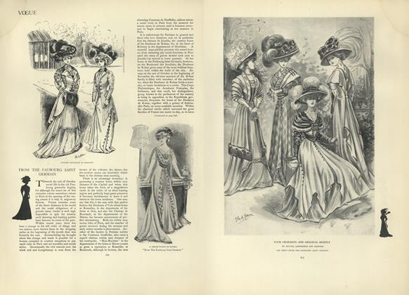 Article Preview: From the Faubourg Saint Germain, November 7 1907 | Vogue