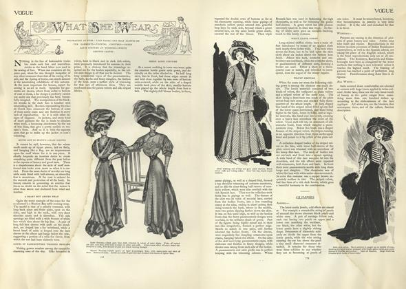 Article Preview: What She Wears, November 14 1907 | Vogue