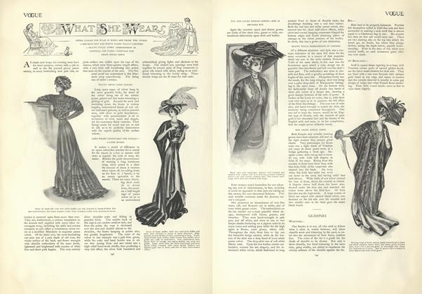 Article Preview: What She Wears, November 21 1907 | Vogue