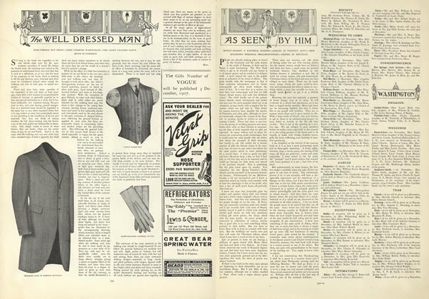 Article Preview: As Seen by Him, November 21 1907 | Vogue