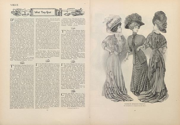Article Preview: What They Read, November 28 1907 | Vogue