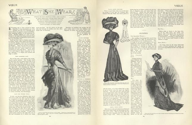 Article Preview: What She Wears, December 12 1907 | Vogue