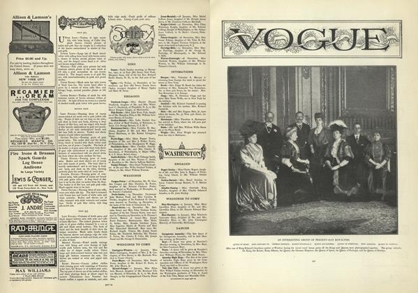Article Preview: Society, December 26 1907 | Vogue