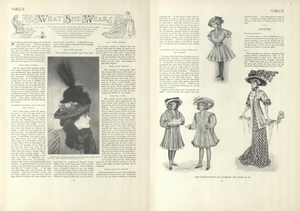 Article Preview: What She Wears, January 9 1908 | Vogue