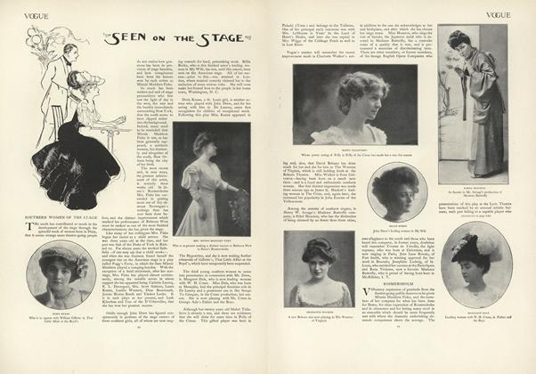 Article Preview: Seen on the Stage, January 16 1908 | Vogue