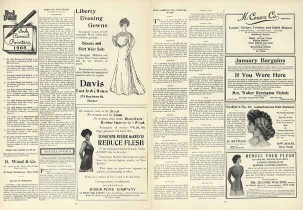 Article Preview: New Fabrics for Tropical Wear, January 16 1908 | Vogue