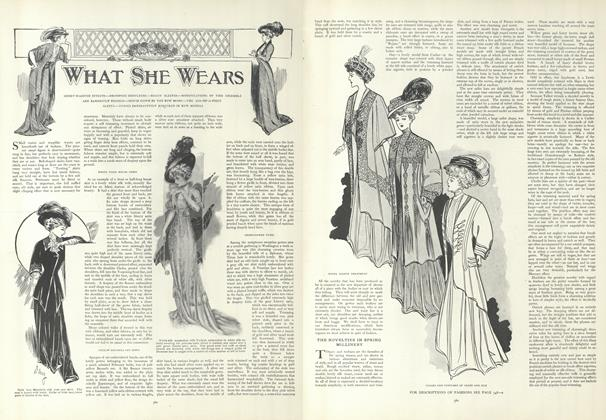 Article Preview: What She Wears, March 12 1908 | Vogue