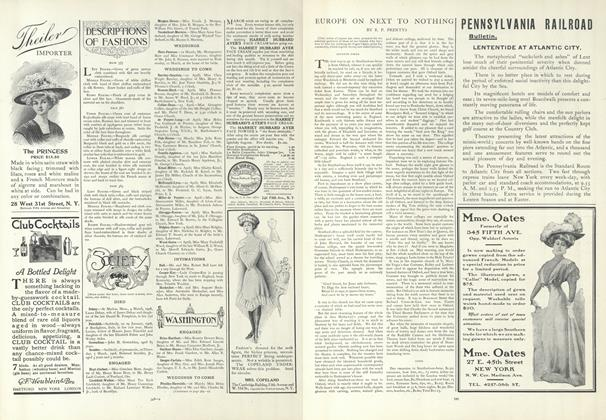Article Preview: Europe on Next to Nothing, March 12 1908 | Vogue