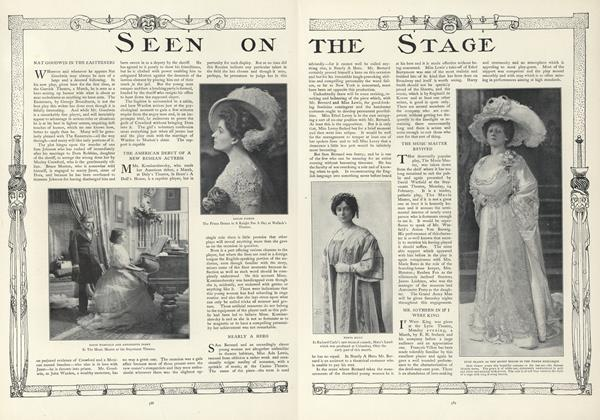 Article Preview: Seen on the Stage, March 19 1908 | Vogue