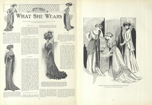 Article Preview: What She Wears, March 26 1908 | Vogue