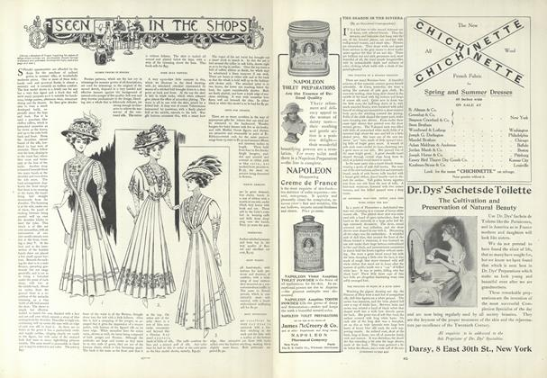 Article Preview: Seen in the Shops, March 26 1908 | Vogue