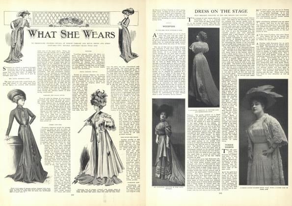 Article Preview: What She Wears, April 9 1908 | Vogue