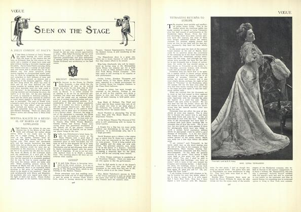 Article Preview: Seen on the Stage, April 9 1908 | Vogue