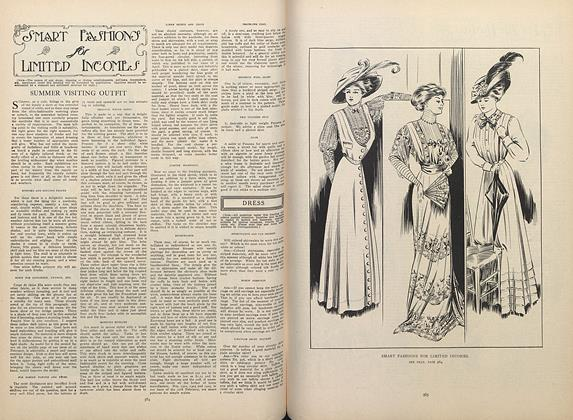 Article Preview: Smart Fashions for Limited Incomes, April 16 1908 | Vogue
